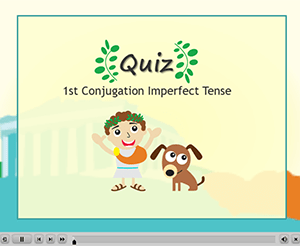 1st Conjugation Imperfect Tense Quiz