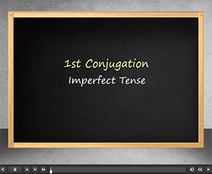 1st Conjugation Imperfect Tense