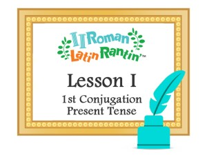 Lesson 1-1st Conjugation