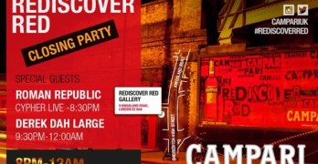 Campari presents red is the cover red closing party with Roman Republic