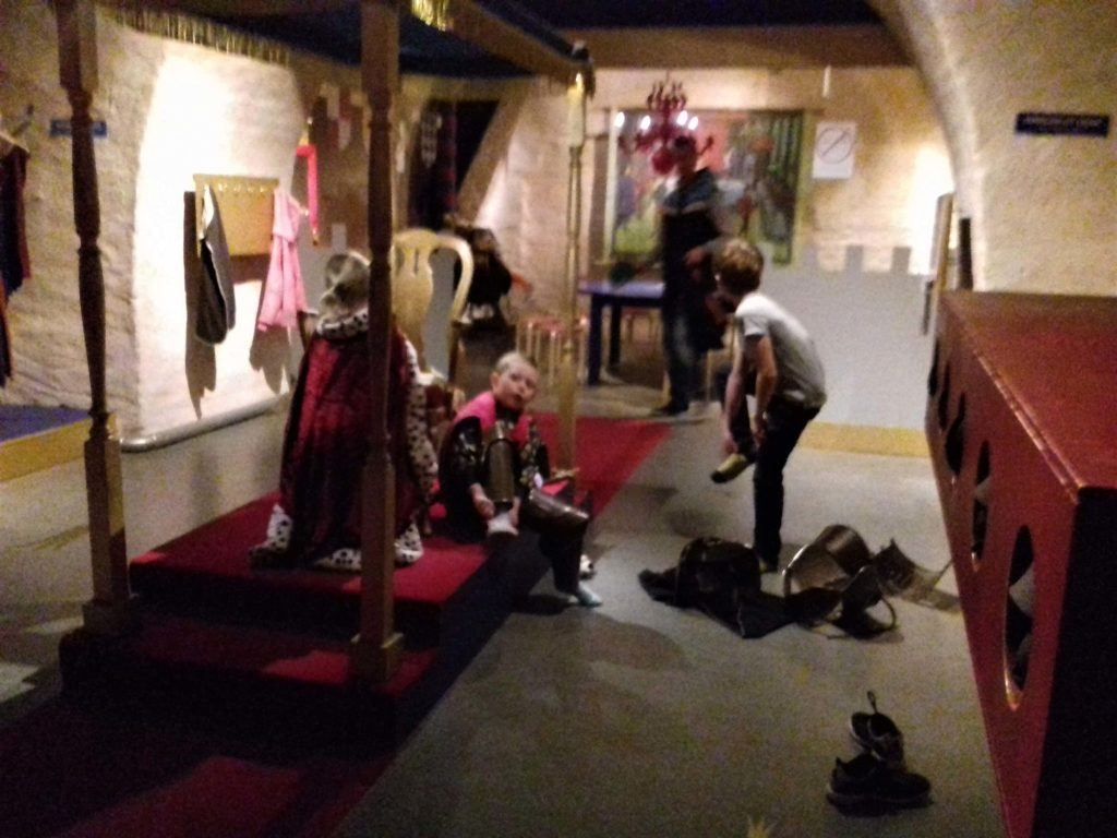 Young kings and knights in Stockholm Royal Armory museum