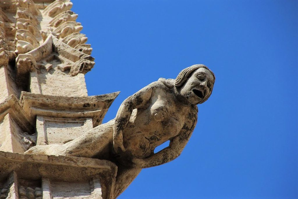 Weird and naughty gargoyles in Valencia