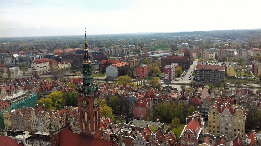 Gdansk city panorama