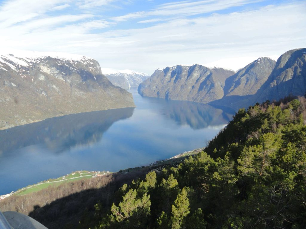 Panoramic view of the world's largest fjord, best places in Norway
