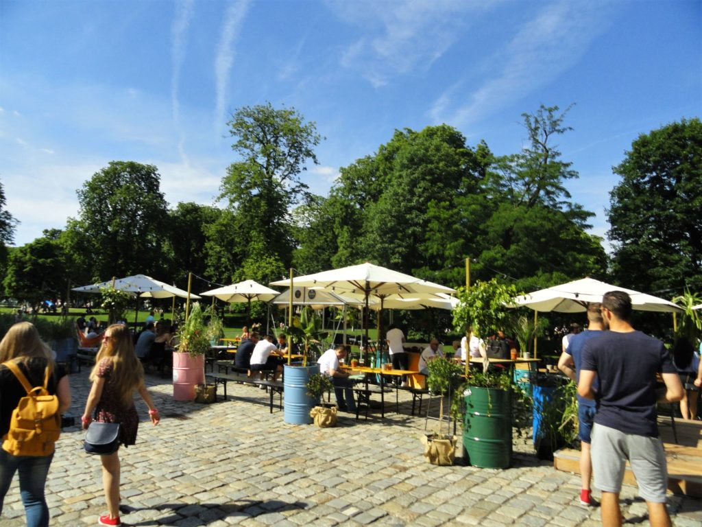 Cafe outside of Stary Browar, things to do in Poznan