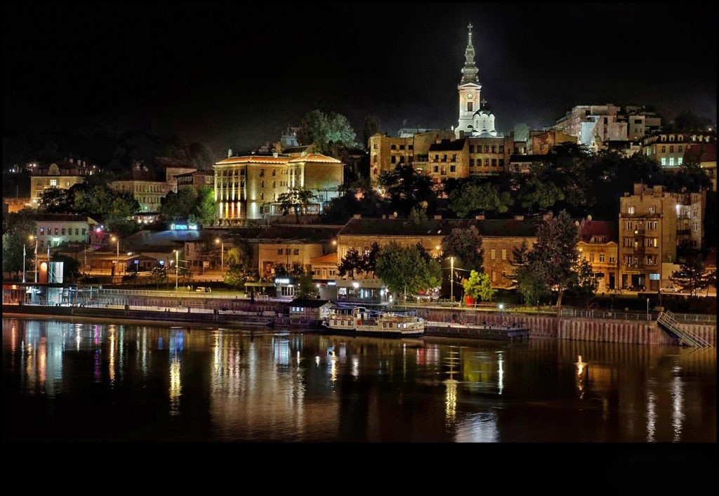 Belgrade night panorama