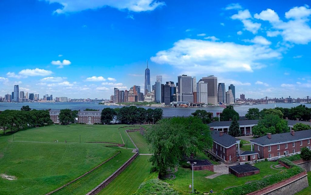 Governors island and view of NYC