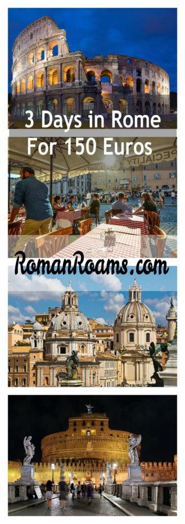 3 days in Rome attractions itinerary, prices collage