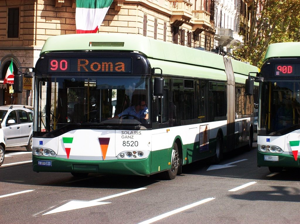 Busses in Rome