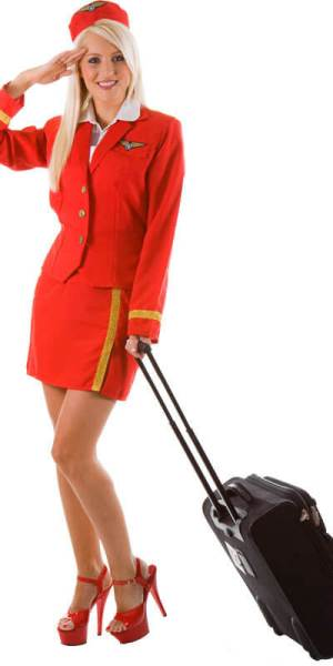 Pretty flight attendant low cost airline