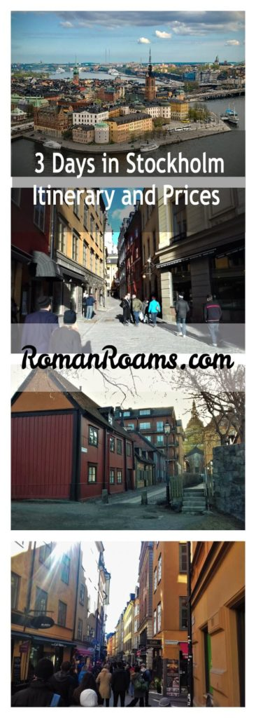 3 days in Stockholm: itinerary and prices