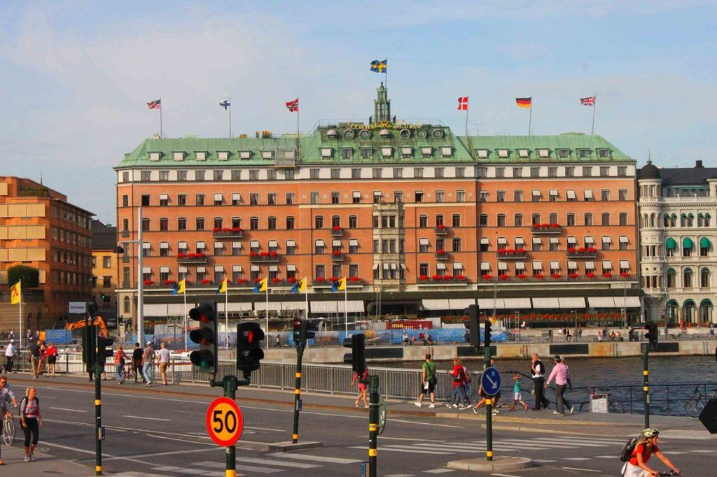 Stockholm Grand hotel building from outside, prices of travel