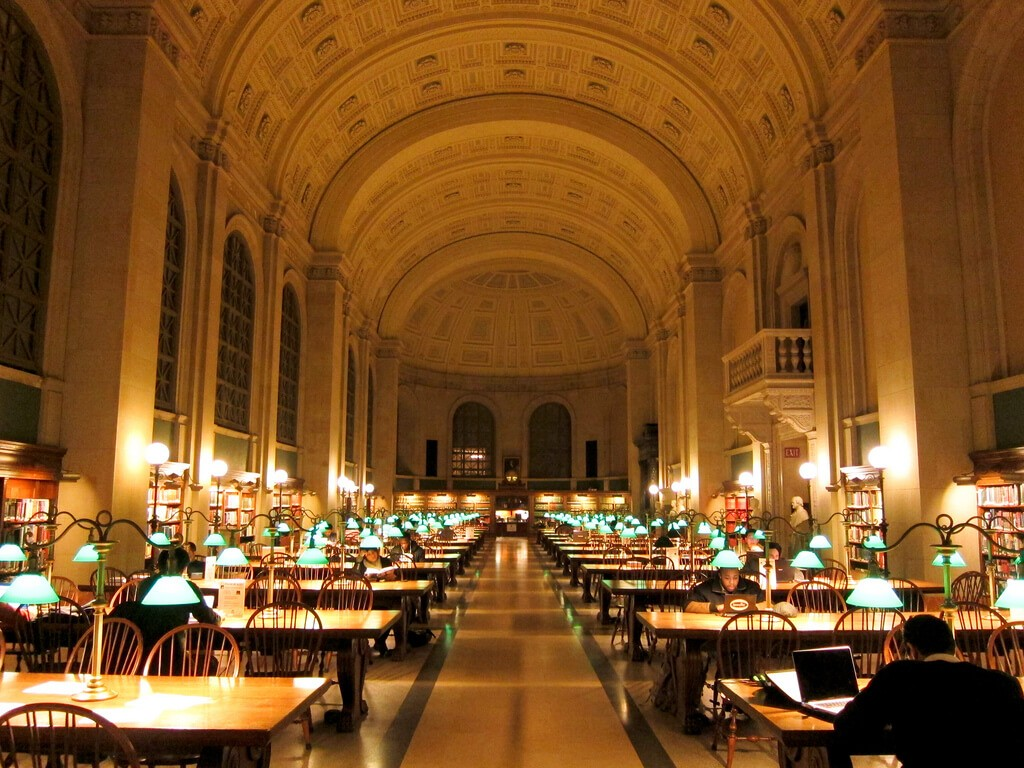 National Library, free things to do in Boston
