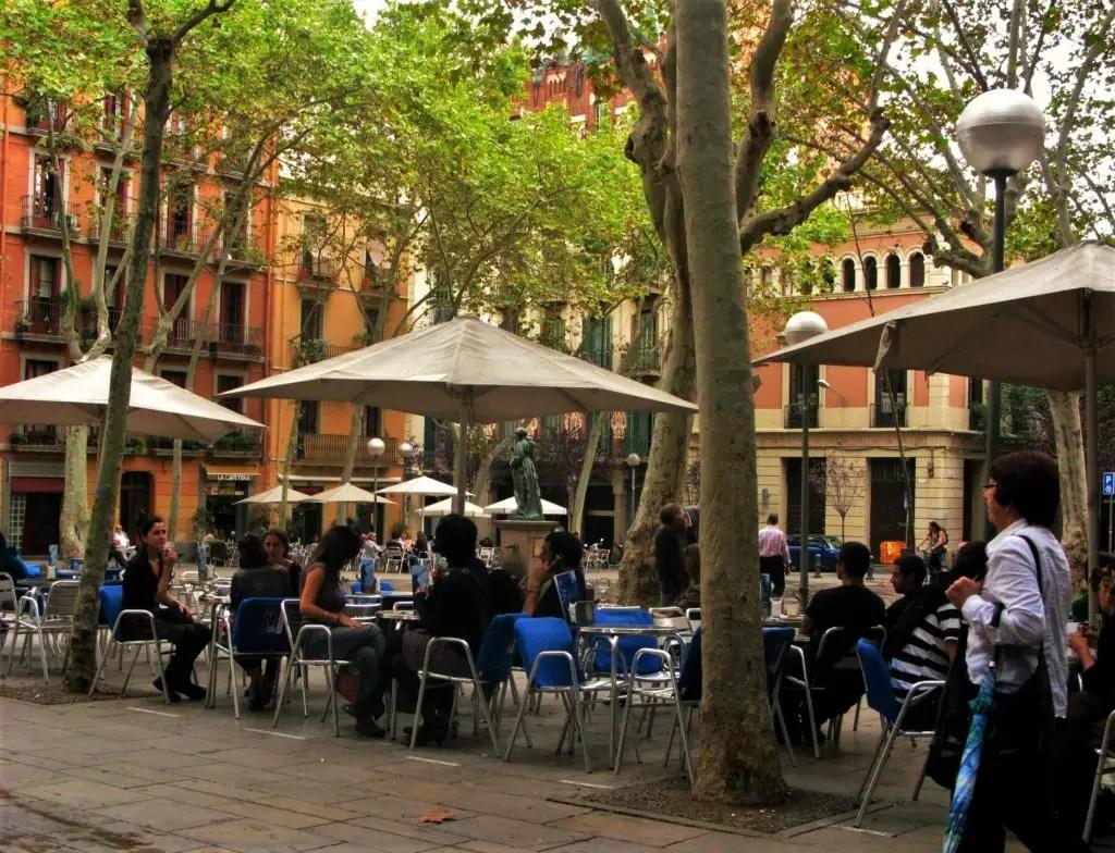 Gracia square Barcelona