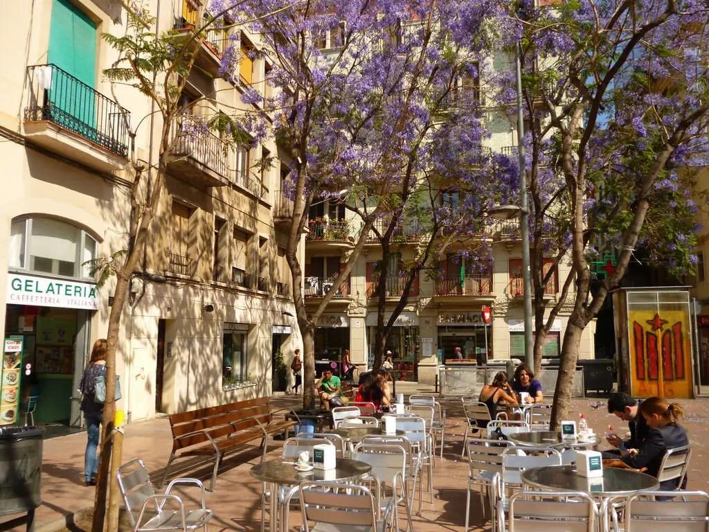 Square in Gracia district, Barcelona