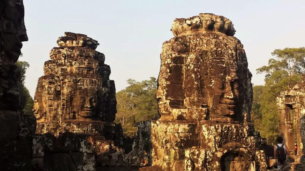 Siem Reap Bayon old sculptures