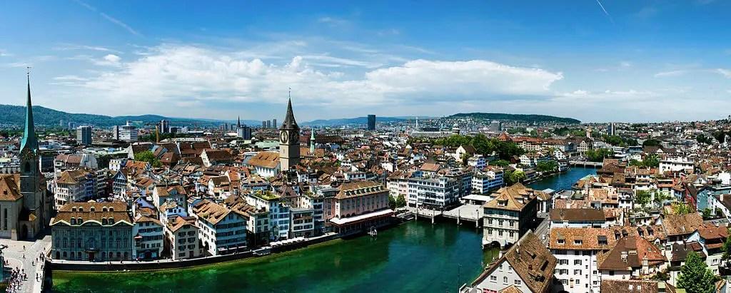 Панорама Цюриха с Гроссмнстером, достопримечательности, что посмотреть бесплатно