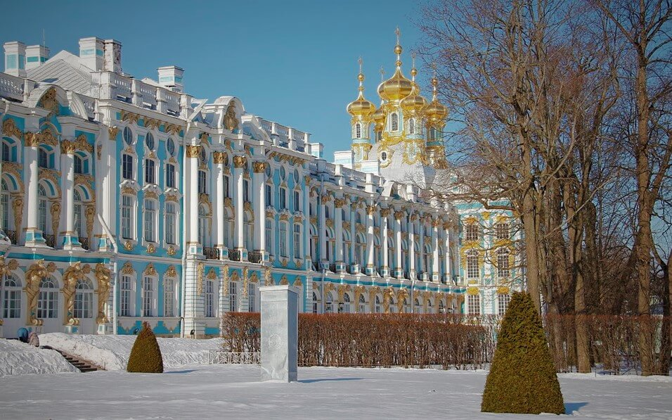 St. Petersburg palace view in winter