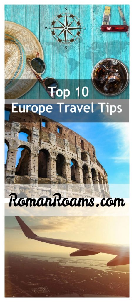 Top tips to travel in Europe, collage from three pictures