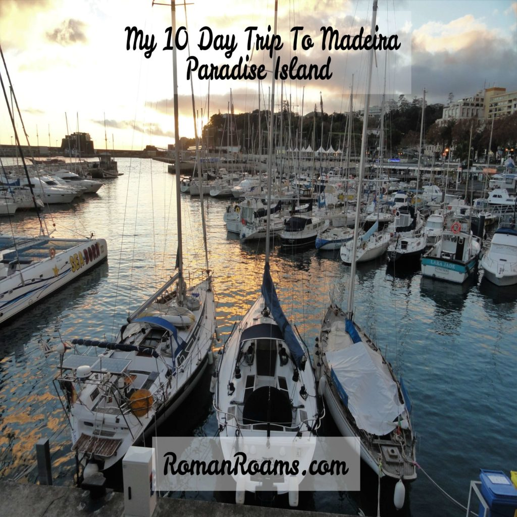 10 day trip to madeira, boats on the sunset in Funchal