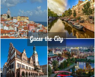 Guess the city collage of 4 European cities