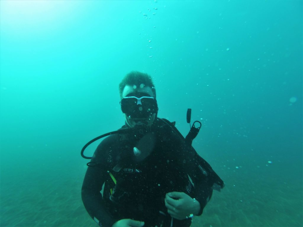 Me under water diving, Madeira trip