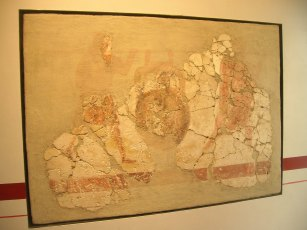 Augst museum wall plaster