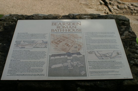 Bearsden bath house signboard