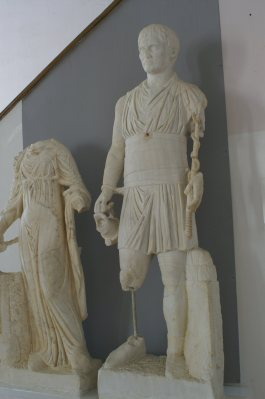 Charioteer statue in Carthage museum
