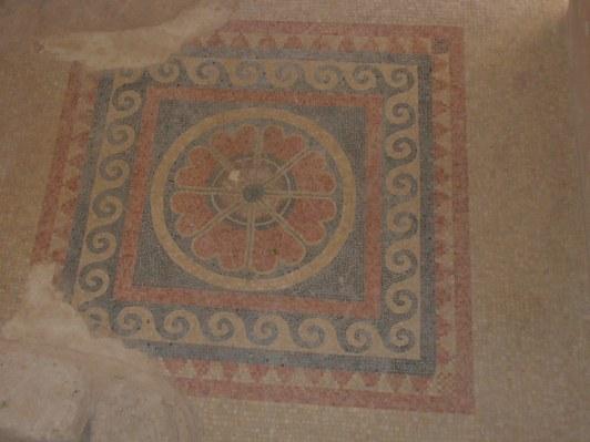 Masada western palace mosaic