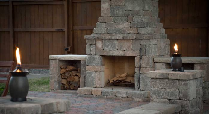 Euro Fremont Fireplace in Timberwood Blend
