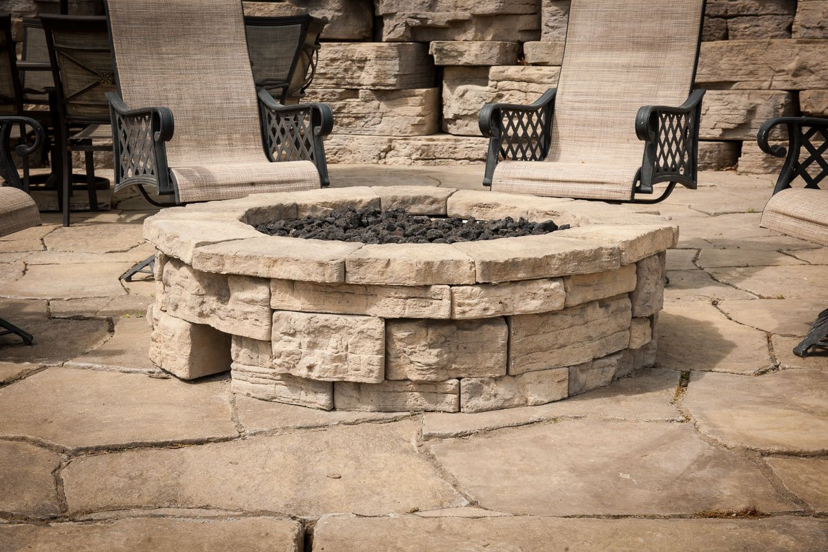 Rosetta Belvedere round Fire pit adds a touch of class to