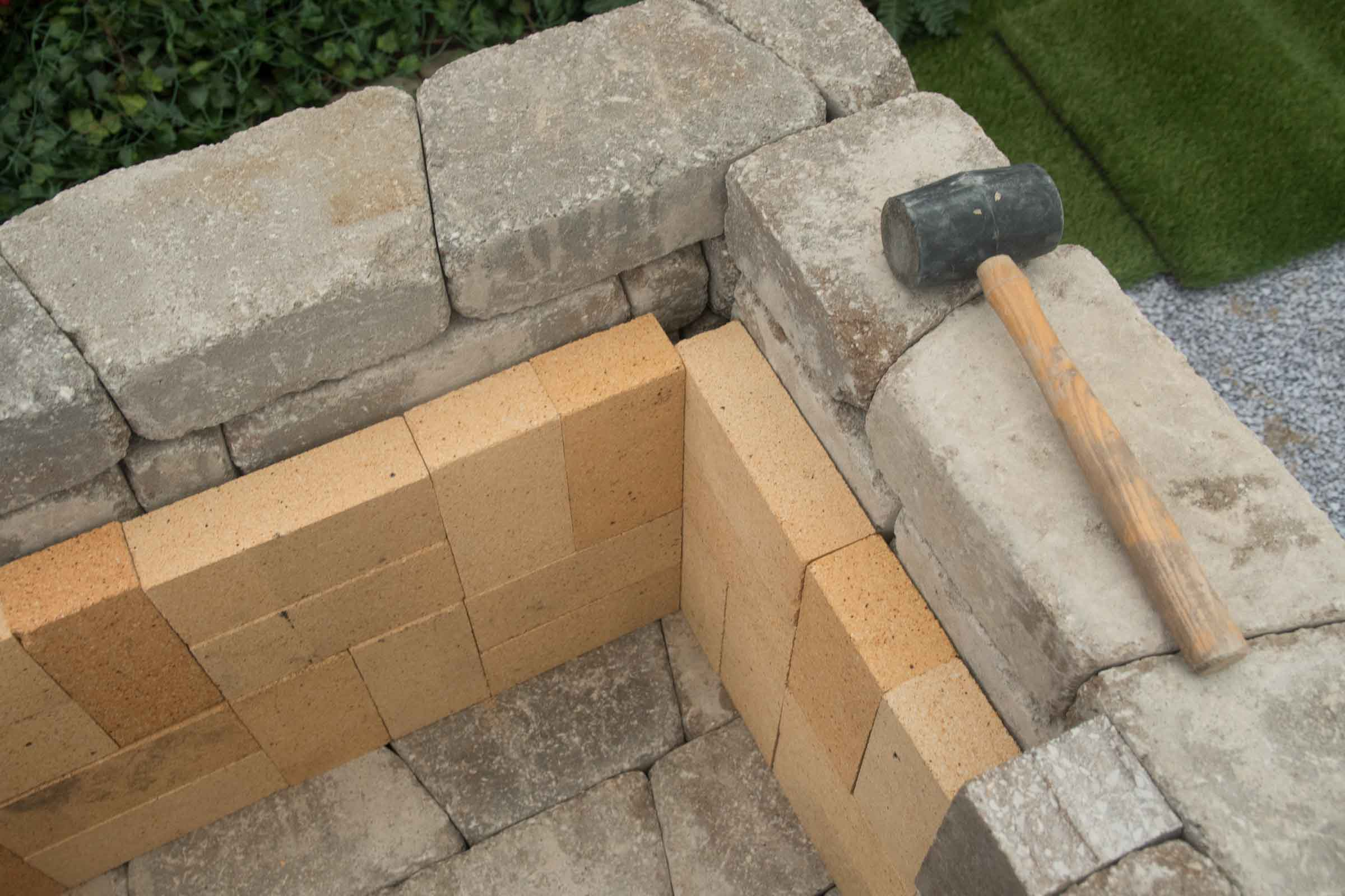 DIY outdoor Fremont fireplace kit makes hardscaping simple ... on Simple Outdoor Brick Fireplace id=41907