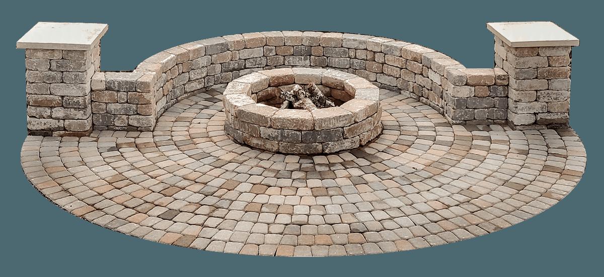 paver circle kit allows you to add