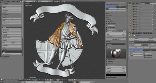 3D design of lapel badge for Gresham Lodge