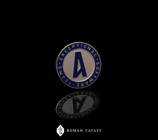 Very high-quality lapel pin for Amdaris