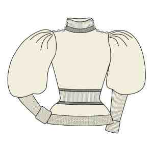 Leg-of-Mutton Sweater PDF pattern