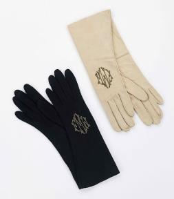 Monogrammed gloves