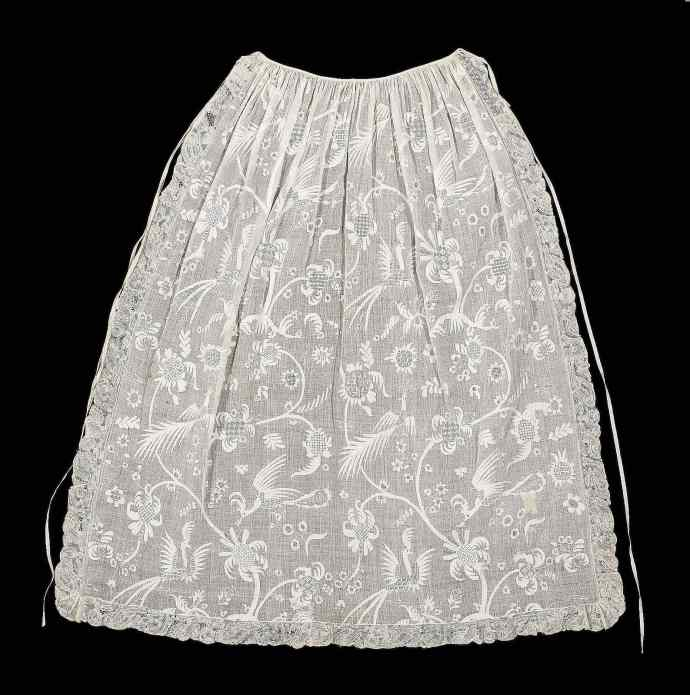 Early 18th c example of whitework embroidery and drawn thread work