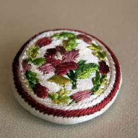 Historical embroidery designs - 18th c. buttons and waistcoats