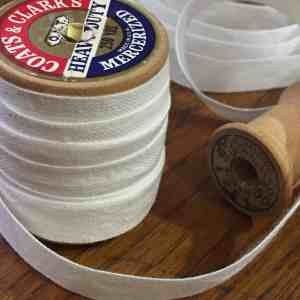 Snowy White Linen Tape on Spool