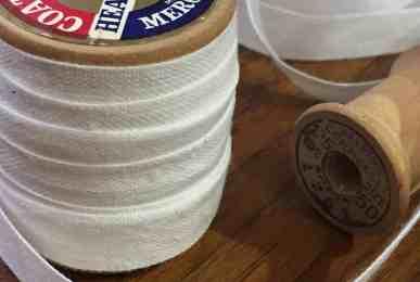 Snowy White Linen Tape on Spool