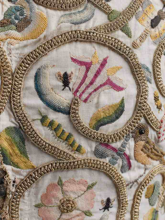 Detail of jacket with Elizabethan embroidery