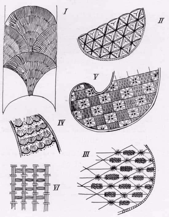 A sampling of Jacobean Stitches