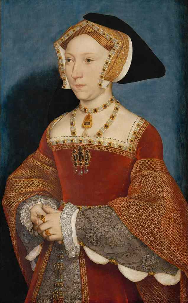 Embroidery styles 1500s - Blackwork embroidery on cuffs in portrait of Jane Seymour