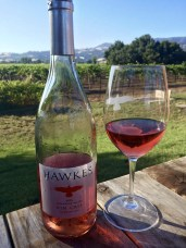 A beautiful glass of Rosè at Hawkes Winery in Alexander Valley.