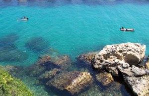 The sea off the Adriatic coast of Salento.