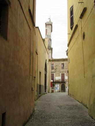 Sutri's winding streets