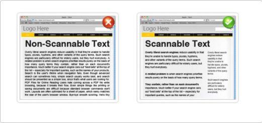 rata kiri scannable text