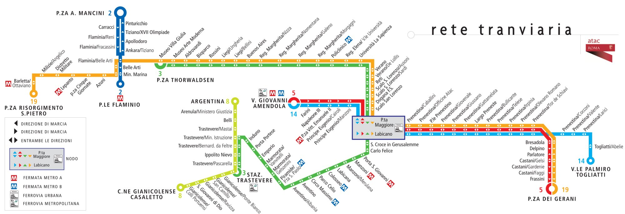 hight resolution of map of rome tram network